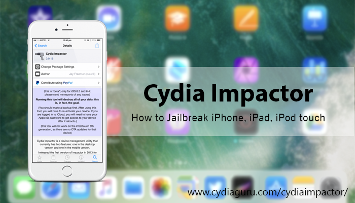 Cydia Impactor Download for Windows, Mac OS and Linux